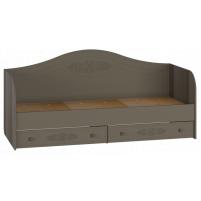 Ассоль plus Грей, АС-10 кровать (бортик в комплекте)