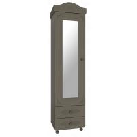 Ассоль plus Грей, АС-1 шкаф-пенал с зеркалом