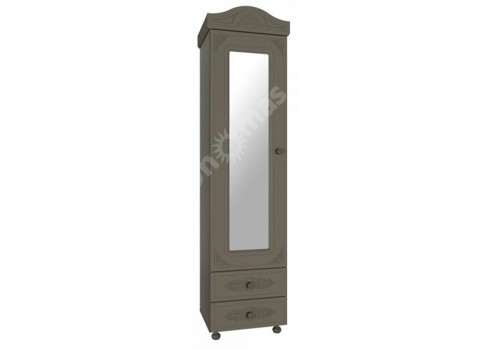 Ассоль plus Грей, АС-1 шкаф-пенал с зеркалом, Гостиные, Модульные гостиные системы, Ассоль plus Грей, Стоимость 14945 рублей.