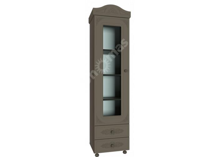 Ассоль plus Грей, АС-1 шкаф-пенал со стеклом, Гостиные, Модульные гостиные системы, Ассоль plus Грей, Стоимость 14703 рублей.