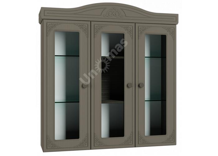 Ассоль plus Грей, АС-29 шкаф-витрина, Гостиные, Витрины и буфеты, Стоимость 14666 рублей.