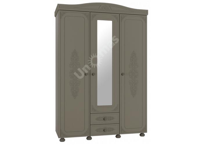 Ассоль plus Грей, АС-27 шкаф трехстворчатый с зеркалом, Детская мебель, Модульные детские комнаты, Ассоль plus Грей, Стоимость 34138 рублей.