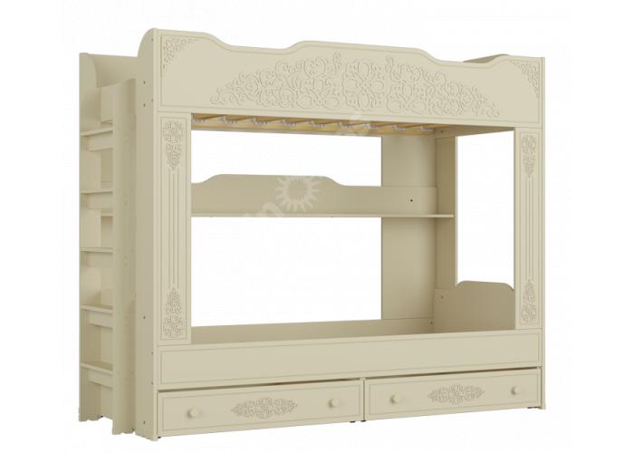 Ассоль plus Ваниль, АС-25 двухъярусная кровать, Детская мебель, Двухъярусные кровати, Стоимость 24669 рублей.