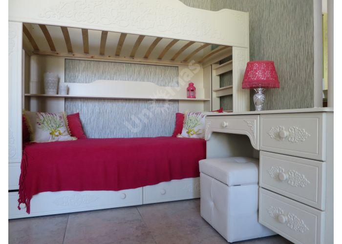 Ассоль plus Ваниль, АС-25 двухъярусная кровать, Детская мебель, Двухъярусные кровати, Стоимость 24669 рублей., фото 2