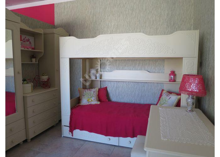 Ассоль plus Ваниль, АС-25 двухъярусная кровать, Детская мебель, Двухъярусные кровати, Стоимость 24669 рублей., фото 3