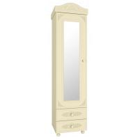 Ассоль plus Ваниль, АС-1 шкаф-пенал с зеркалом
