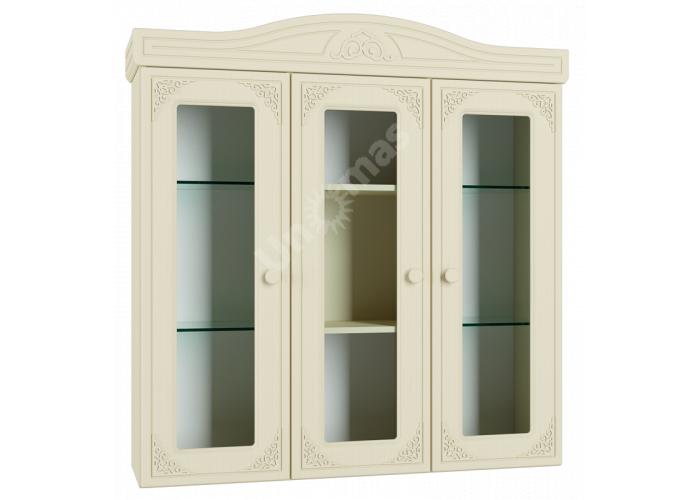 Ассоль plus Ваниль, АС-29 шкаф-витрина, Гостиные, Витрины и буфеты, Стоимость 16169 рублей.
