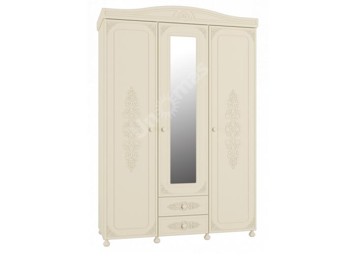 Ассоль plus Ваниль, АС-27 шкаф трехстворчатый с зеркалом, Спальни, Шкафы, Стоимость 33821 рублей.