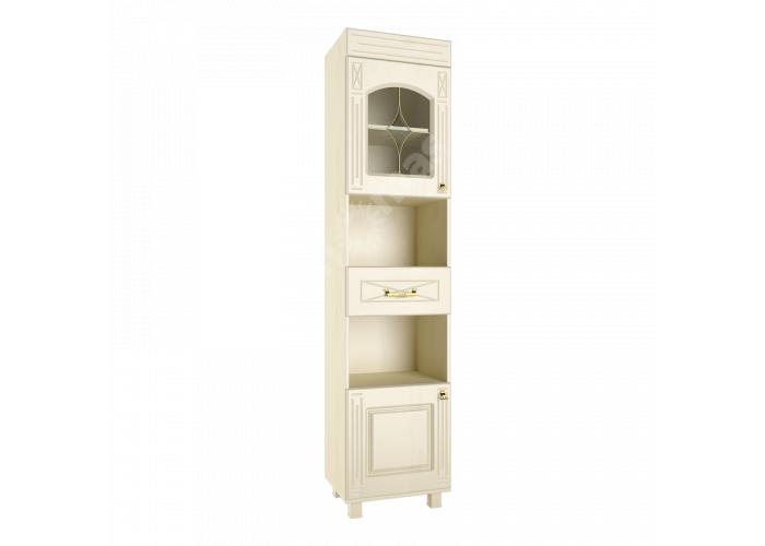 Элизабет, ЭМ-3 шкаф-пенал со стеклом, Офисная мебель, Офисные пеналы, Стоимость 8891 рублей.