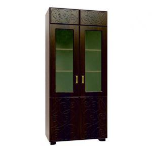 Легенда Венге темный/Орех шоколадный, ЛГ-7 Шкаф-витрина