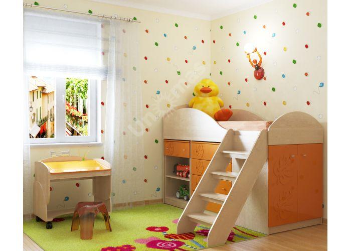Маугли 3D, МДМ-7 Парта Клен / Оранж глянец, Детская мебель, Модульные детские комнаты, Маугли 3D Клен / Оранж глянец, Стоимость 4749 рублей., фото 2