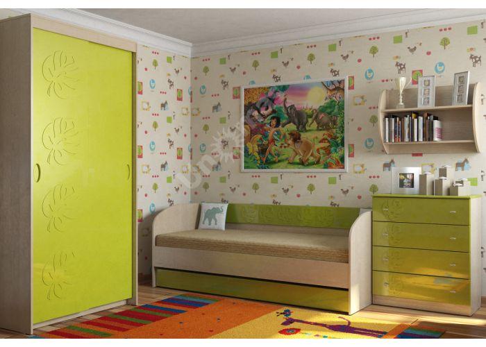 Маугли 3D, МДМ-8 Шкаф Клен / Лайм глянец, Детская мебель, Модульные детские комнаты, Маугли 3D Клен / Лайм глянец, Стоимость 9912 рублей., фото 2