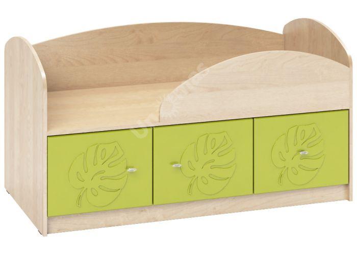 Маугли 3D, МДМ-1 Кровать Клен / Лайм глянец, Детская мебель, Детские кровати, Стоимость 7562 рублей.