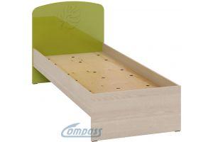 Маугли 3D, МДМ-11 Кровать без ламелей Клен / Лайм глянец
