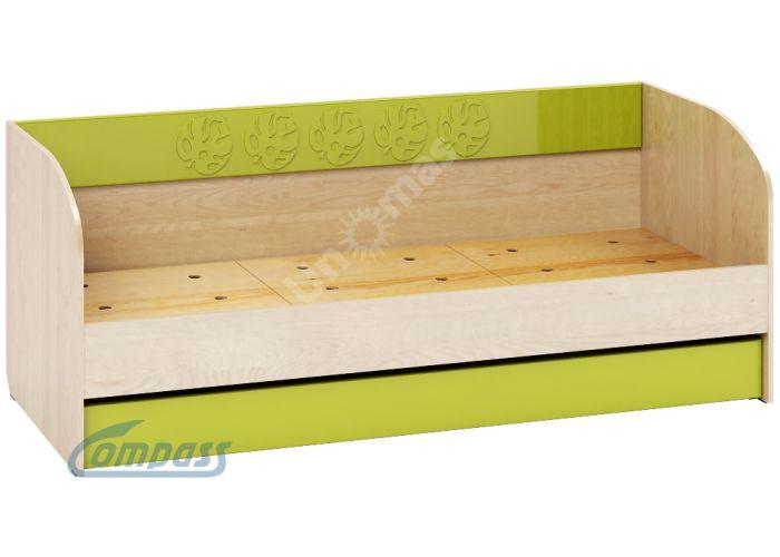 Маугли 3D, МДМ-12 Кровать (диванчик) Клен / Лайм глянец, Детская мебель, Детские кровати, Стоимость 7111 рублей.