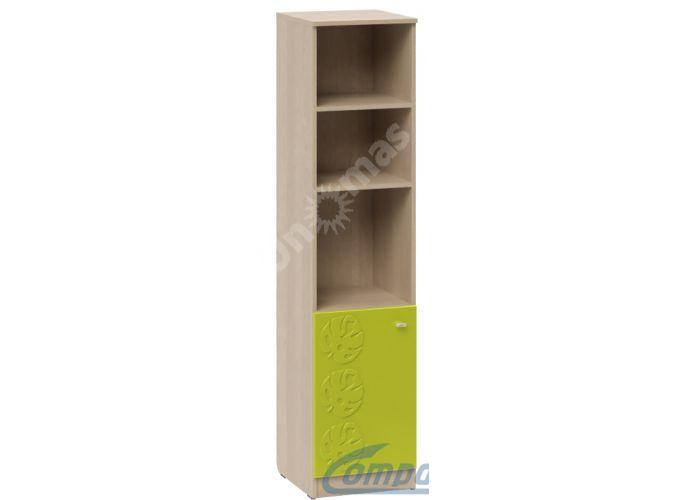 Маугли 3D, МДМ-13-2 Пенал открытый Клен / Лайм глянец, Детская мебель, Модульные детские комнаты, Маугли 3D Клен / Лайм глянец, Стоимость 4946 рублей.