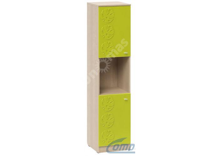 Маугли 3D, МДМ-13 Пенал Клен / Лайм глянец, Детская мебель, Модульные детские комнаты, Маугли 3D Клен / Лайм глянец, Стоимость 6357 рублей.