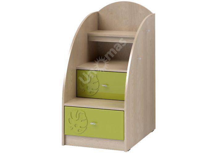 Маугли 3D, МДМ-3 Лестница-тумба Клен / Лайм глянец, Детская мебель, Модульные детские комнаты, Маугли 3D Клен / Лайм глянец, Стоимость 5392 рублей.