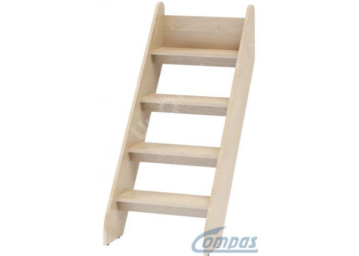 Маугли 3D, МДМ-4 Лестница приставная Клен, Детская мебель, Модульные детские комнаты, Маугли 3D Клен / Лайм глянец, Стоимость 1907 рублей.