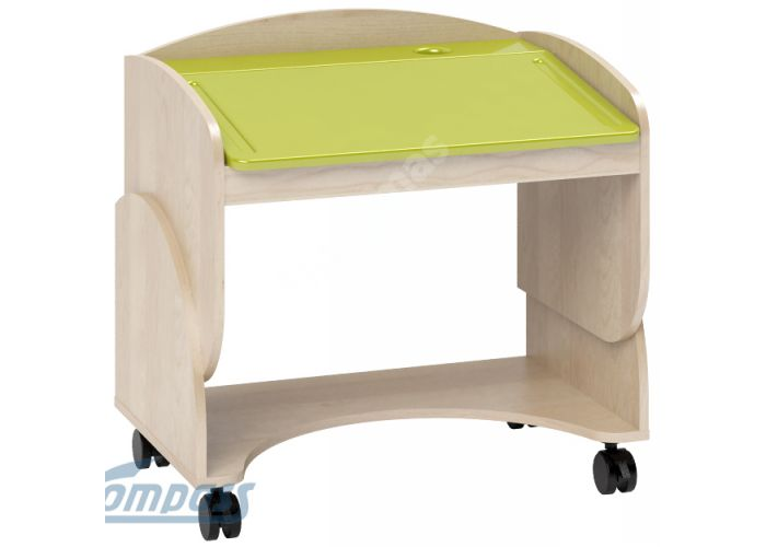 Маугли 3D, МДМ-7 Парта Клен / Лайм глянец, Детская мебель, Детские парты, Стоимость 4749 рублей.
