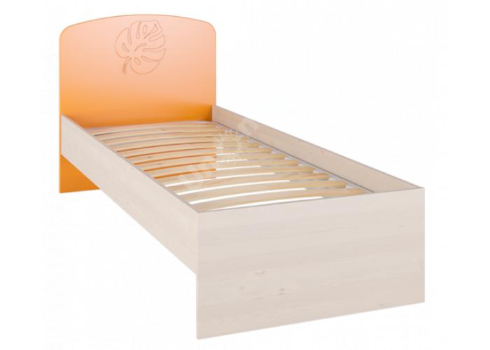 Маугли 3D, МДМ-11 Кровать без ламелей Клен / Оранж глянец, Спальни, Кровати, Стоимость 5118 рублей.