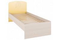 Маугли 3D, МДМ-11 Кровать без ламелей Клен / Желтый глянец