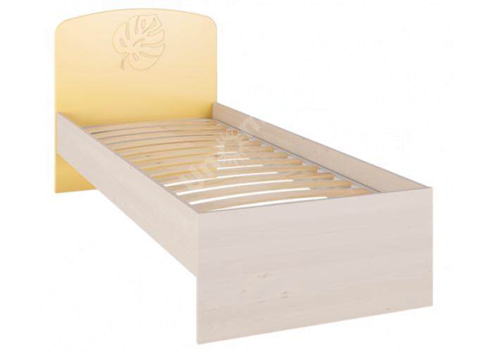 Маугли 3D, МДМ-11 Кровать без ламелей Клен / Желтый глянец, Спальни, Кровати, Стоимость 5118 рублей.