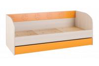 Маугли 3D, МДМ-12 Кровать (диванчик) Клен / Оранж глянец
