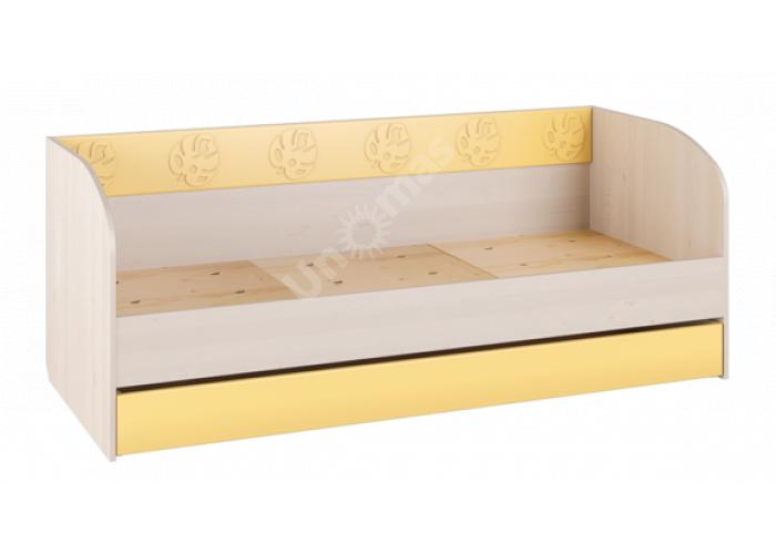 Маугли 3D, МДМ-12 Кровать (диванчик) Клен / Желтый глянец, Детская мебель, Детские кровати, Стоимость 8312 рублей.