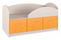 Маугли 3D, МДМ-1 Кровать Клен / Оранж глянец