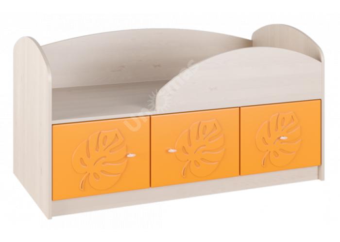 Маугли 3D, МДМ-1 Кровать Клен / Оранж глянец, Детская мебель, Детские кровати, Стоимость 8839 рублей.