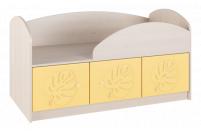 Маугли 3D, МДМ-1 Кровать Клен / Желтый глянец