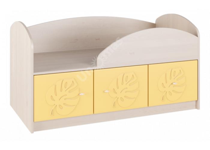 Маугли 3D, МДМ-1 Кровать Клен / Желтый глянец, Детская мебель, Детские кровати, Стоимость 8839 рублей.