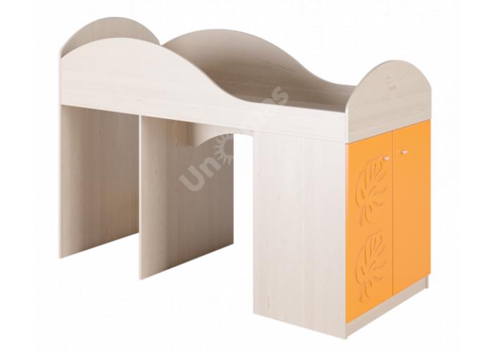 Маугли 3D, МДМ-2 Кровать-чердак Клен / Оранж глянец, Детская мебель, Двухъярусные кровати, Стоимость 11294 рублей.