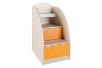 Маугли 3D, МДМ-3 Лестница-тумба Клен / Оранж глянец