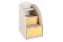 Маугли 3D, МДМ-3 Лестница-тумба Клен / Желтый глянец