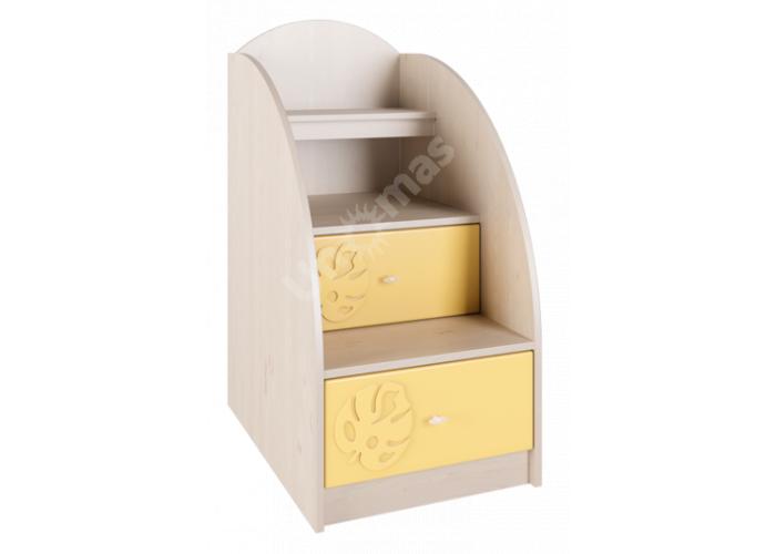 Маугли 3D, МДМ-3 Лестница-тумба Клен / Желтый глянец, Детская мебель, Модульные детские комнаты, Маугли 3D Клен / Желтый глянец, Стоимость 6303 рублей.