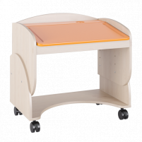 Маугли 3D, МДМ-7 Парта Клен / Оранж глянец