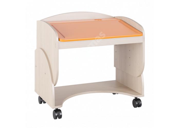 Маугли 3D, МДМ-7 Парта Клен / Оранж глянец, Детская мебель, Модульные детские комнаты, Маугли 3D Клен / Оранж глянец, Стоимость 4749 рублей.