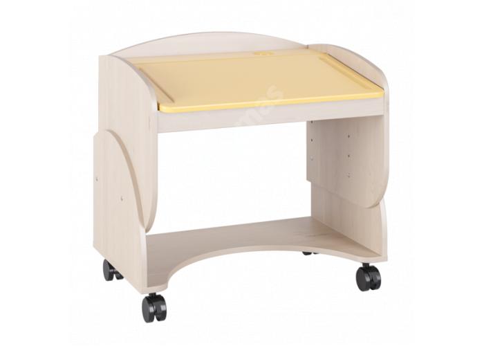 Маугли 3D, МДМ-7 Парта Клен / Желтый глянец, Детская мебель, Детские парты, Стоимость 4749 рублей.