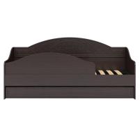 Соня Премиум Венге патина, СО-25К кровать без ламелей (бортик в комплекте)