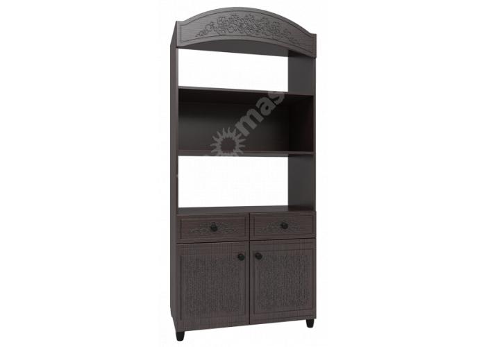 Соня Премиум Венге патина, СО-24К шкаф комбинированный, Офисная мебель, Офисные пеналы, Стоимость 16043 рублей.