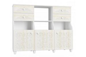 Соня Премиум Ясень патина, СО-16К шкаф комбинированный
