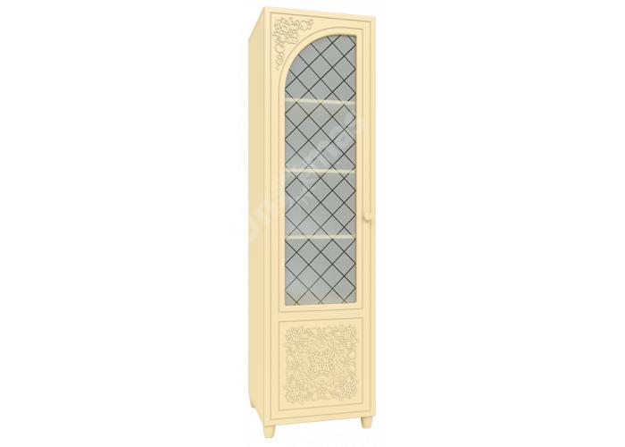 Соня Бежевый, СО-13К шкаф-пенал со стеклом левый, Офисная мебель, Офисные пеналы, Стоимость 11360 рублей.