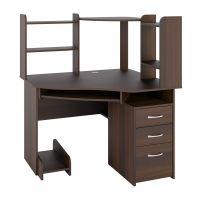 С 215 стол компьютерный + СЕ 215 сегмент приставной  Орех темный