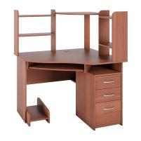 С 215 стол компьютерный + СЕ 215 сегмент приставной  Яблоня
