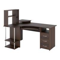 С 237 стол компьютерный + СЕ 237 сегмент приставной Орех темный
