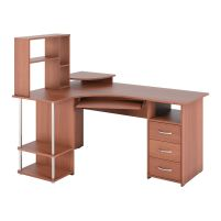 С 237 стол компьютерный + СЕ 237 сегмент приставной Яблоня