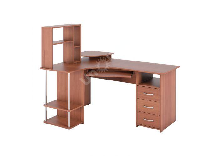 С 237 стол компьютерный + СЕ 237 сегмент приставной Яблоня, Офисная мебель, Компьютерные и письменные столы, Стоимость 9376 рублей.