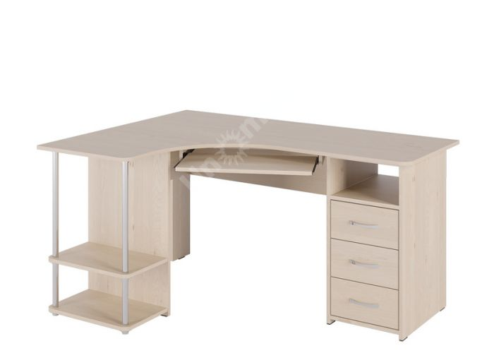 С 237 стол компьютерный Береза снежная, Офисная мебель, Компьютерные и письменные столы, Стоимость 8892 рублей.